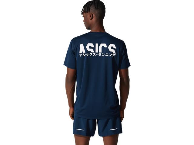asics Katakana Koszulka rowerowa z krótkim rękawem Mężczyźni, french blue